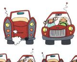 Travel trip, Road Trip, Day Trip, Car Decorative Stickers