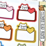 [MC18] Kitty Love Boxes, multicolor cats labels, cat boxes