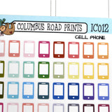 [IC012] Multicolor Cell phone, cell bill, bill pay reminder - ColumbusRoadPrints