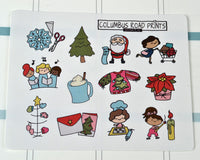 Holiday Deco Stickers, Christmas Fun Decorative Stickers