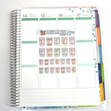 [ICP001] COFFEE TO GO, coffee cups, pastel planner stickers - ColumbusRoadPrints