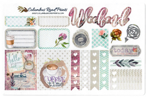 """Coffee Time"" Planner Stickers - ColumbusRoadPrints"