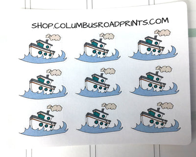 Cruise Ship, Boating Day, Vacation, Travel Decorative stickers