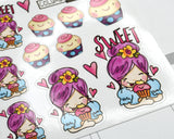 "Planner Girl stickers, Cupcake, ""Sweet"" Treats, Cupcakes, Treat day, planner stickers, fits all planners"