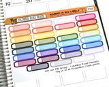 [SC008] Rounded 1/5 box labels, multicolor labels