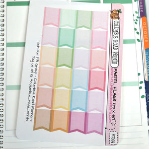 [PC004] Pastel Flags, pastel multicolor flags