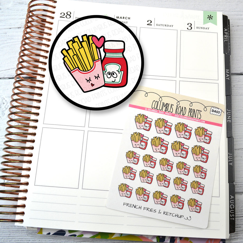 DECO -- French Fries & Ketchup -- DA53 Planner Stickers
