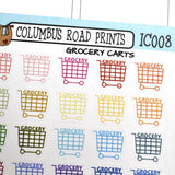 [IC008] Grocery carts, shopping, grocery stickers - ColumbusRoadPrints