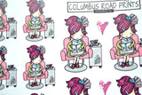 """Hair Day"" Planner Girl Stickers - ColumbusRoadPrints"