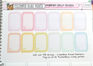 [PC003] Pointed Half Boxes, Pastel Multicolor half boxes with Asterisk