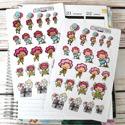Happy Mail Planner Girl Stickers, planner stickers, mail, happy mail, planner stickers, planner girl, fits all planners