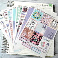 HORIZONTAL -- Bless Our Home -- weekly kit or a la carte, weekly kit fits EC Lifeplanner, Horizontal Planner Sticker Kit
