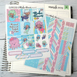 HORIZONTAL -- Make Waves -- weekly kit or a la carte, weekly kit fits EC Lifeplanner, Horizontal Planner Sticker Kit
