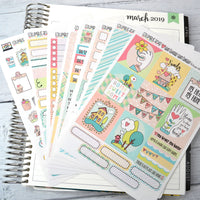 HORIZONTAL -- My Heart My Home -- weekly kit or a la carte, weekly kit fits EC Lifeplanner, Horizontal Planner Sticker Kit