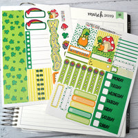HORIZONTAL -- St. Patty's Day -- 2 Sheet Quick Kit, Horizontal 2 Sheet Kit, fits Horizontal EC 7x9, St. Patrick's Day kit
