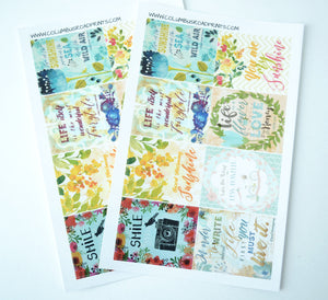 [105]Inspirational Art and Quote Full Boxes, fits Erin Condren VERTICAL Life Planners - ColumbusRoadPrints