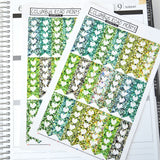 Green Glitter image vertical checklist flags