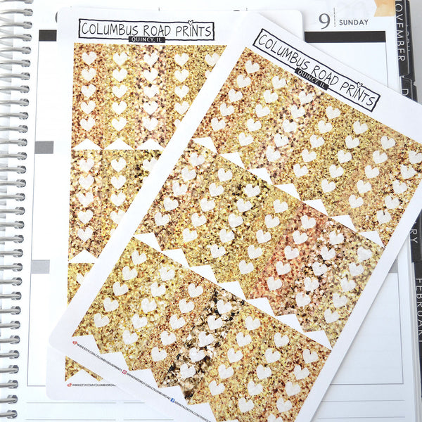 Gold Glitter image vertical checklist flags