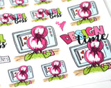 girl boss designer planner stickers
