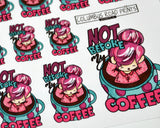 coffee addict planner stickers
