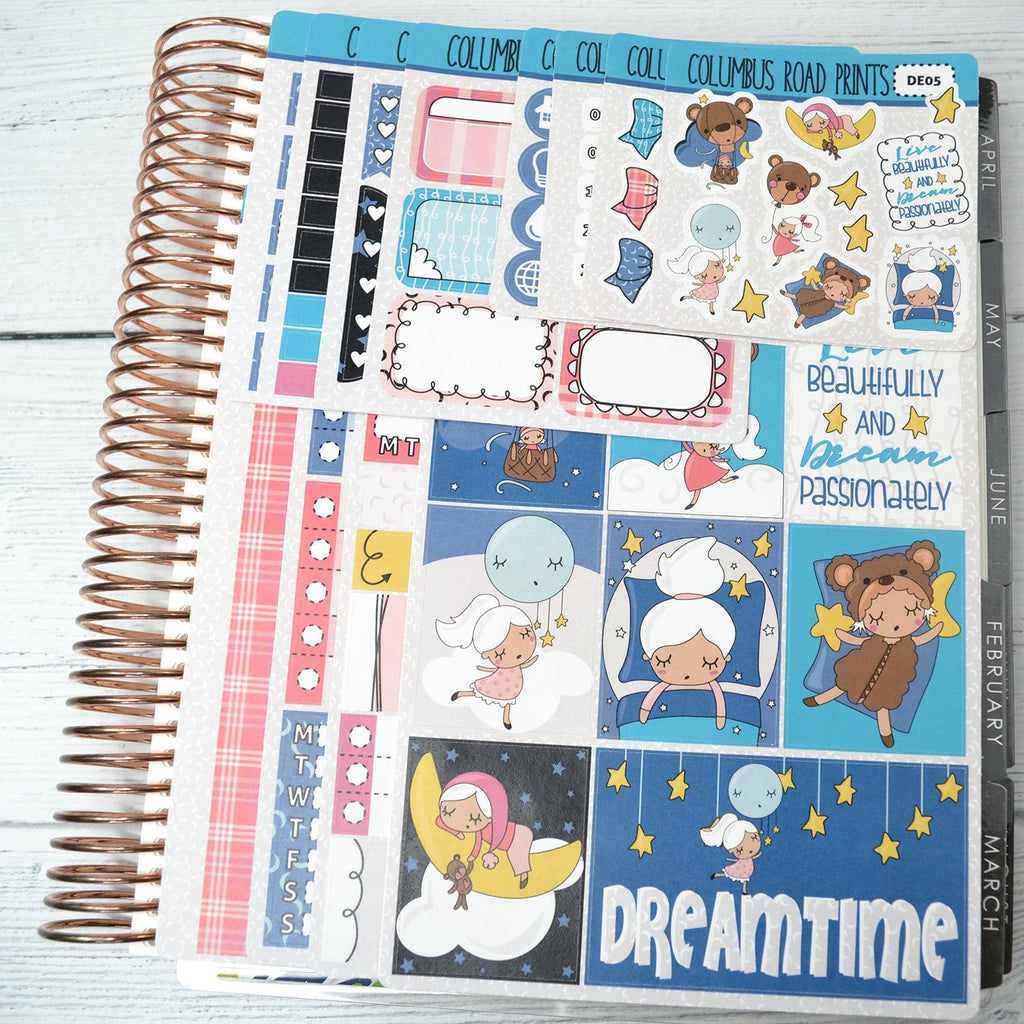 VERTICAL -- Dreamtime -- Weekly Kit, fits Erin Condren Vertical Life Planner