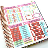 VERTICAL -- Snow Much Fun -- Weekly Kit, fits Erin Condren Vertical Life Planner