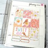 HORIZONTAL -- Georgia Sweet Peach -- weekly kit or a la carte, February weekly kit fits EC Lifeplanner