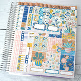 HORIZONTAL -- Funky Dayz -- Weekly Kit, fits Erin Condren Horizontal Life Planner