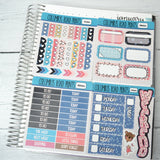 HORIZONTAL -- Dreamtime -- Weekly Kit, fits Erin Condren Horizontal Life Planner