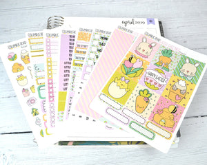 HORIZONTAL -- Easter Sweetness -- weekly kit or a la carte, weekly kit fits EC Lifeplanner, Horizontal Planner Sticker Kit