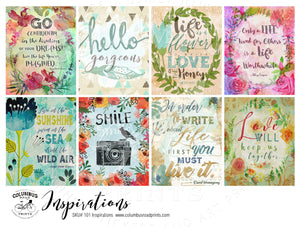 [101]Inspirational Art and Quote Full Boxes, fits Erin Condren VERTICAL Life Planners - ColumbusRoadPrints