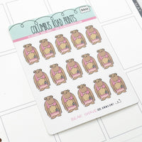 [DA23] BEAR SHAVE - DECO - PLANNER STICKERS