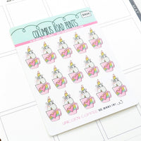 [DA29] UNICORN COFFEE - DECO - PLANNER STICKERS