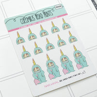 [DA28] NARWHAL - DECO - PLANNER STICKERS