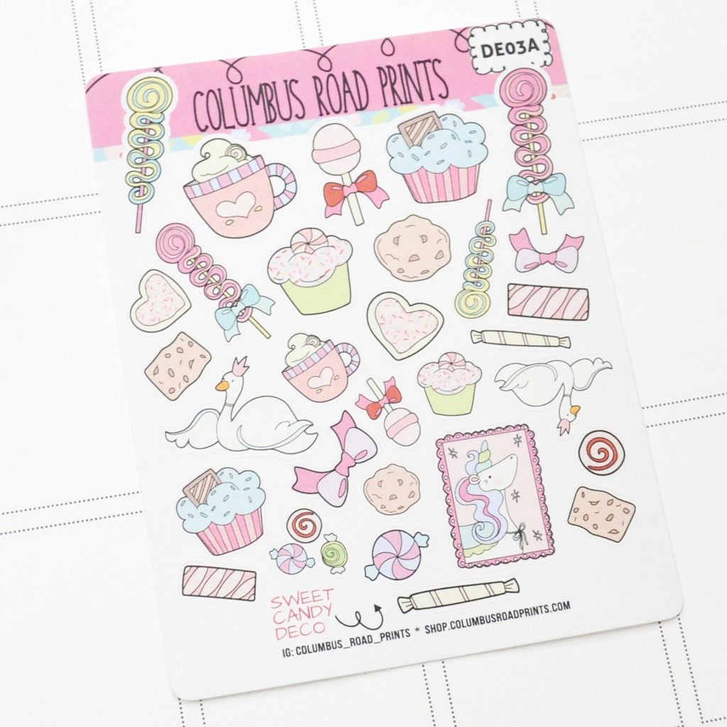 "DECO - ""Sweet Candy"" - Planner Stickers"