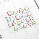 Tags - Hand drawn Flags - Planner Stickers