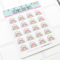 [DA24] SHARK ATTACK - DECO - PLANNER STICKERS