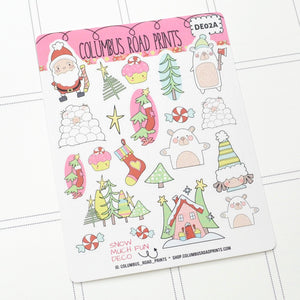 "DECO - ""Snow Much Fun"" - Planner Stickers"