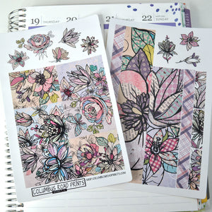 Inked Flowers and Multi-pattern 2 Sheet kit