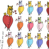 [DA02] Kissy Kissy Llama, llama decorative stickers, llama love - ColumbusRoadPrints