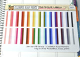 [MC07] Multicolor Labels with dashed art, 1/4 box labels
