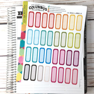 "Label Planner Stickers ""Multicolor Focus"", fits Erin Condren Vertical Life Planner, Quarter box rounded labels, Multicolor Planner Sticker"