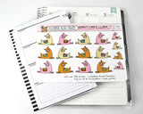 [DA01] Smarty Pants Llama, llama decorative stickers, happy llama - ColumbusRoadPrints