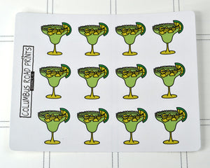 Margarita, drink night, happy hour stickers