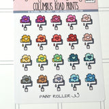 [DA71]ICONS -- Paint Roller -- painting planner stickers, multicolor icons, home repair fits most planners