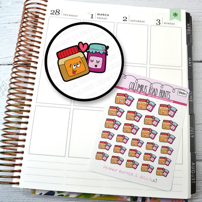 DECO -- Peanut Butter & Jelly -- DA51 Planner Stickers