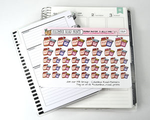 [DA09] Peanut Butter  & Jelly Time, PB&J, lunch stickers