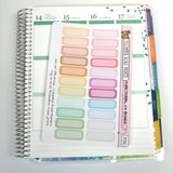 [PC001] Functional 1/4 boxes, Pastel Multicolor Labels, pastel labels