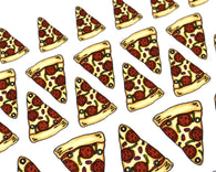 Pizza planner stickers, pizza night, hand drawn slice of pizza, pepperoni pizza stickers