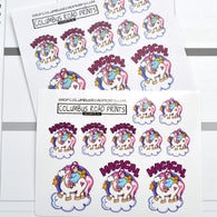 "Girl on pony ""Magical"", Planner Girl stickers, pony stickers, cloud stickers fits all planners"